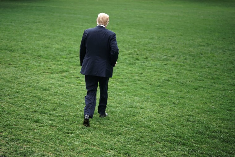 President Trump Departs The White House En Route To Dallas To Address NRA Conference