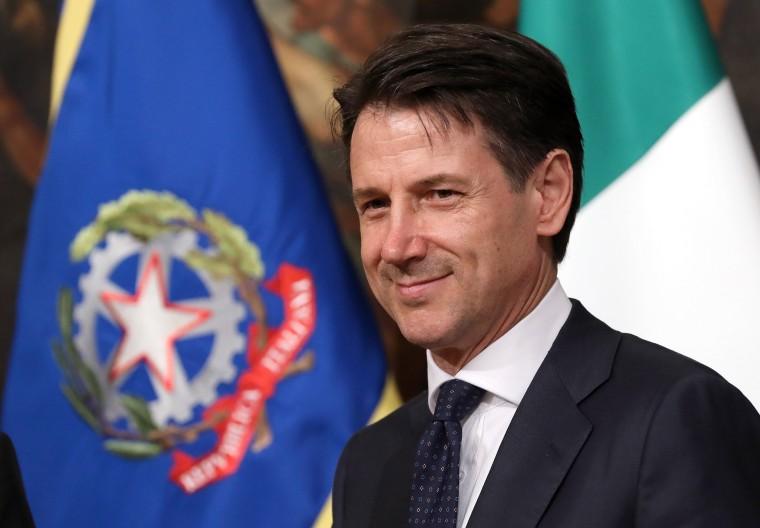 Image: Prime Minister Designate Giuseppe Conte Presents New Italian Government