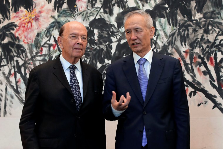 Image: U.S. Commerce Secretary Wilbur Ross, Chinese Vice Premier Liu He