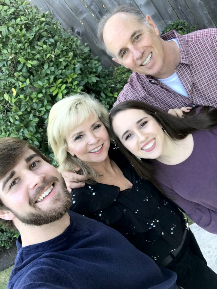 "Debra Reese, 61, with her family. Reese was diagnosed with stage 2 breast cancer. A gene test showed a low risk of recurrence, so after being treated with radiation therapy, she didn't need chemotherapy. ""I did the right thing,"" said Reese, reassured after hearing of the new study's results."