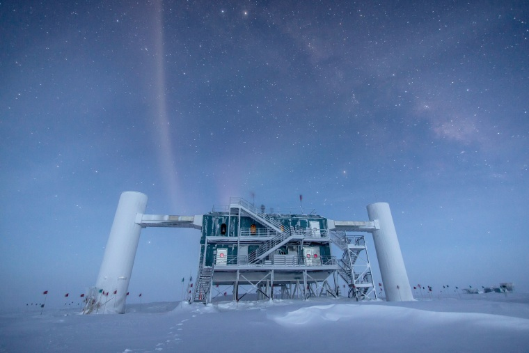 Image: The IceCube Laboratory at the Amundsen-Scott South Pole Station, in Antarctica, hosts the computers collecting raw data.