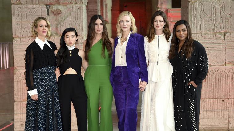 Sarah Paulson, Awkwafina, Sandra Bullock, Cate Blanchett, Anne Hathaway, Mindy Kaling