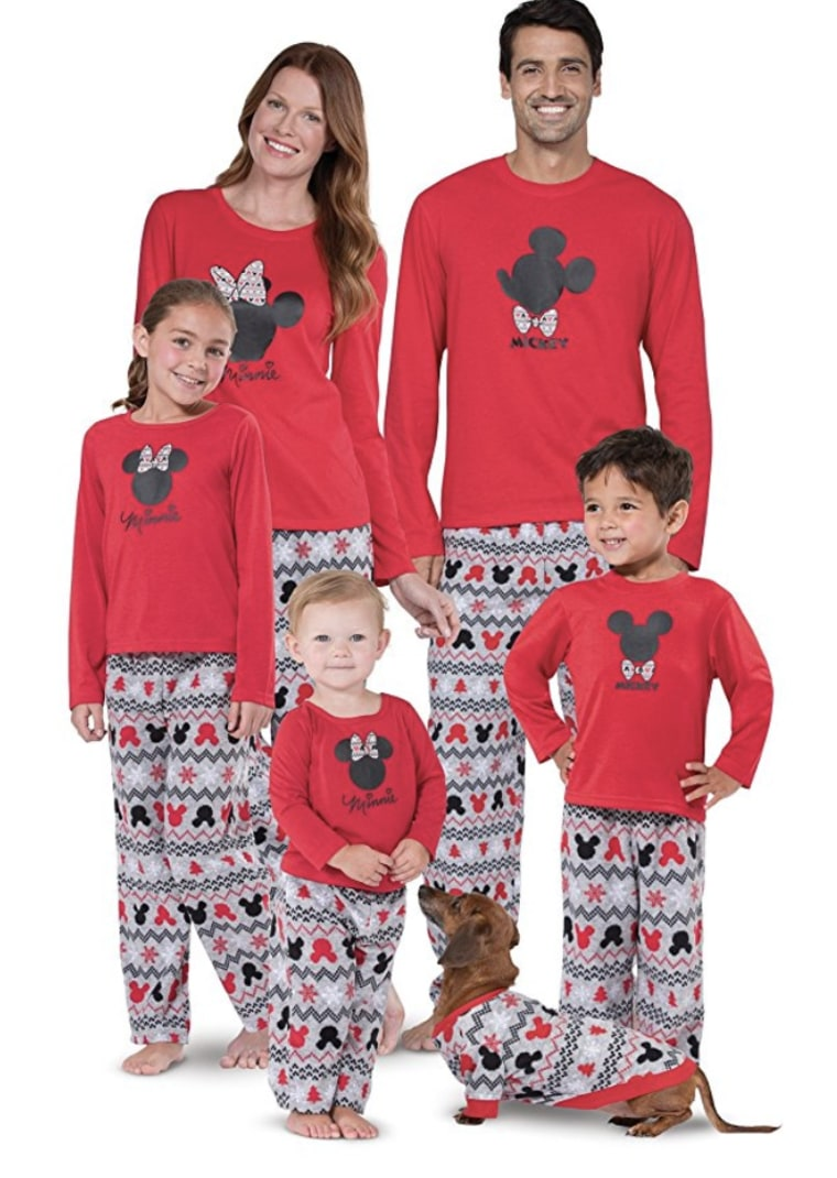 PajamaGram Mickey Mouse and Minnie Mouse Matching Family Pajamas