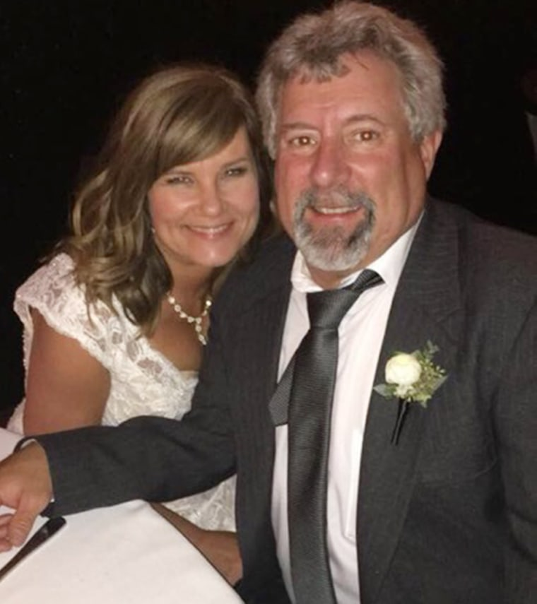 Kimberly Dean and Ron Palmer got married 37 years after they dated in high school.