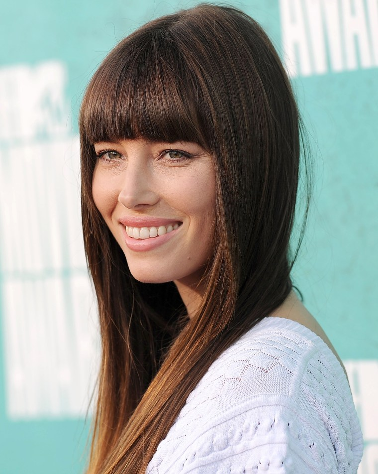 Jessica Biel with bangs