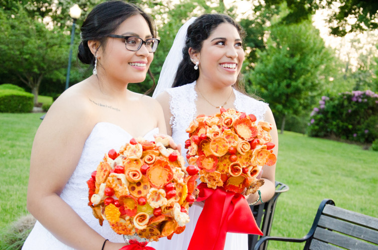 Pizza bouquets for that special day.