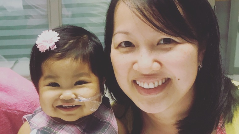 Grace Nguyen felt grateful that she knew two women, Margaret Rollins and Analy Navarro, who had donated part of their livers to help their daughters who also had biliary atresia.