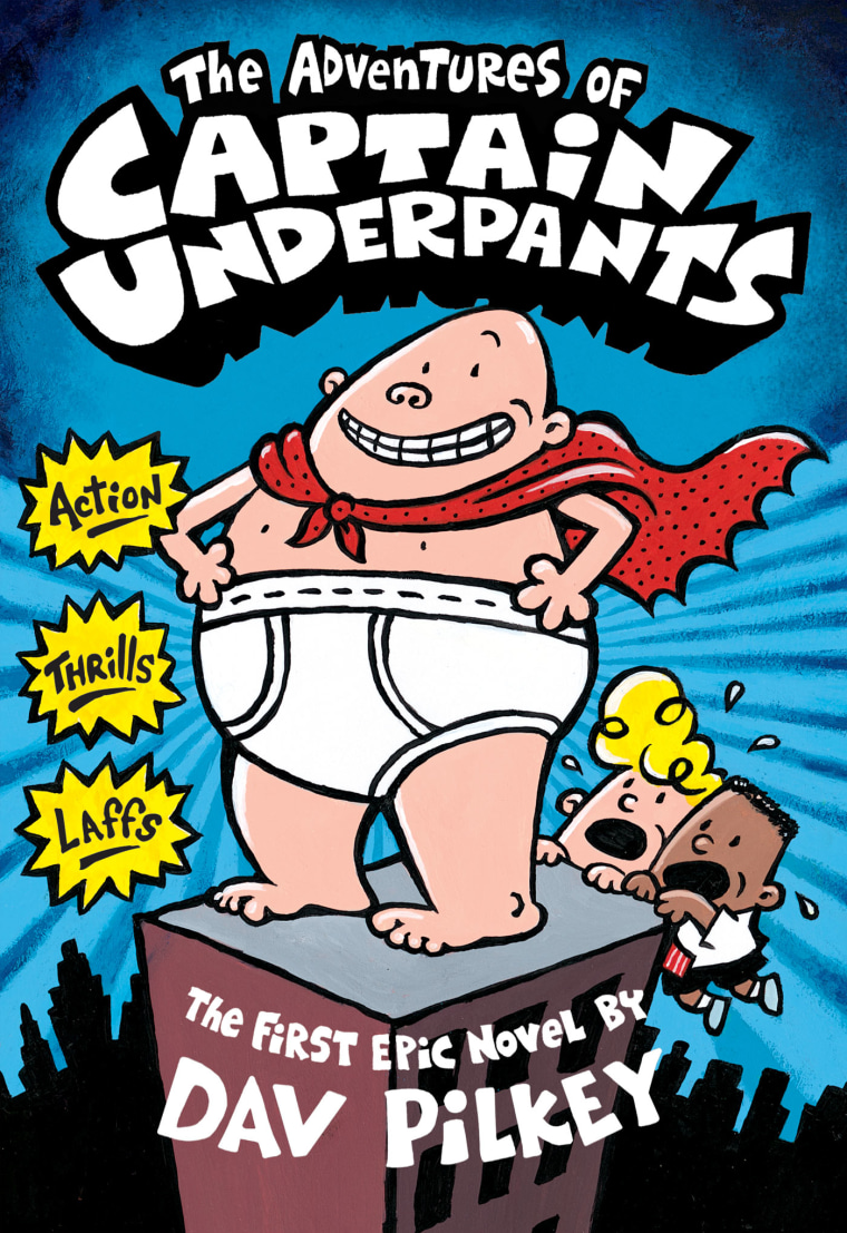 It is a photo of Striking Captain Underpants Pictures