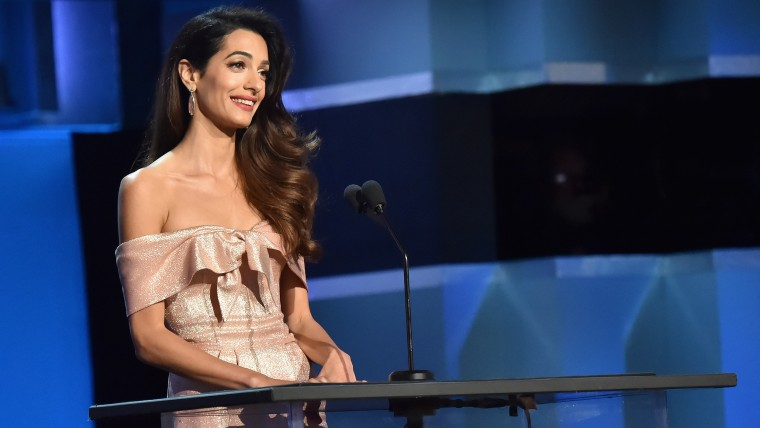 Amal Clooney honors George Clooney at 2018 AFI Life Achievement Award Gala