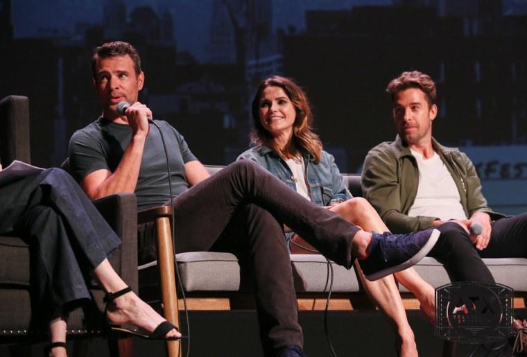 """Felicity"" stars Keri Russell, Scott Speedman and Scott Foley reunited at the ATX Festival in Austin."