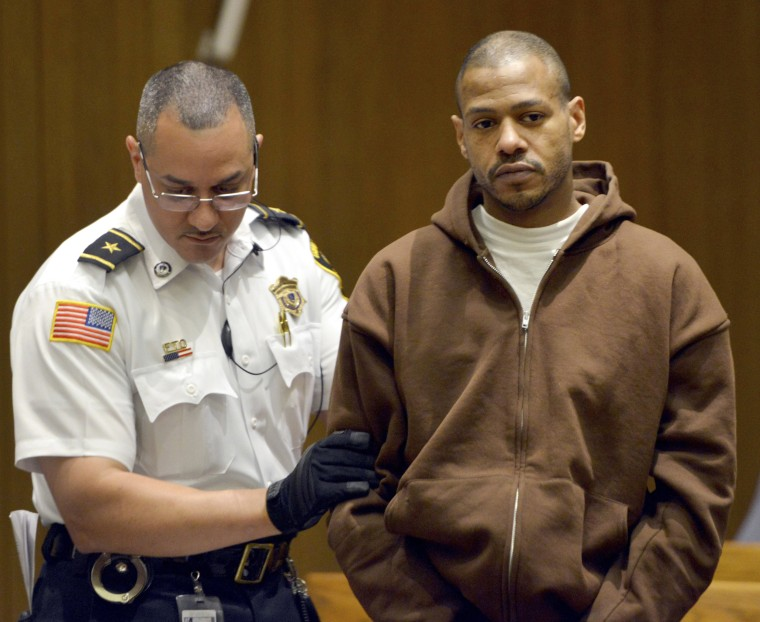 Image: Stewart Weldon is led into Springfield District Court for arraignment on a new charge of kidnapping