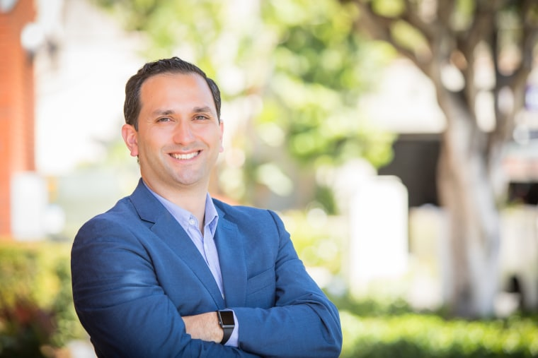 Sam Jammal, in a campaign photo, is a Democratic candidate for the U.S. House in California's 39th Congressional District.