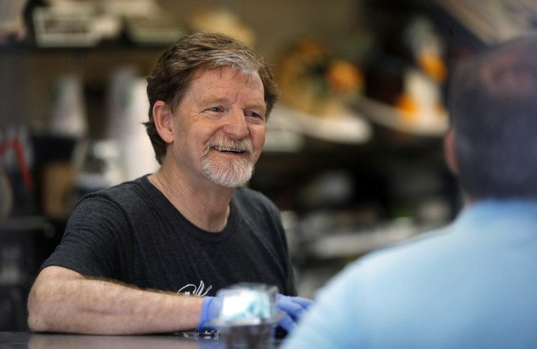 Image: Baker Jack Phillips, owner of Masterpiece Cakeshop, in his shop in Lakewood, Colorado