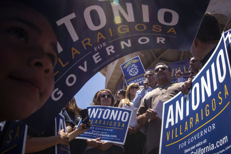 Image: California Gubernatorial Candidate Antonio Villaraigosa Campaigns In Los Angeles Ahead Of Tuesday's Primary