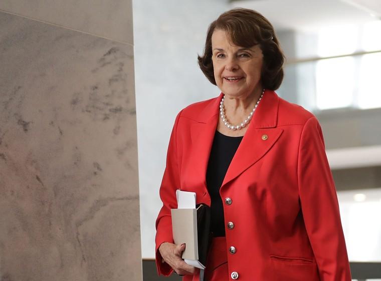 Image:  Senate Intelligence Committee member Sen. Dianne Feinstein, D-Calif. a