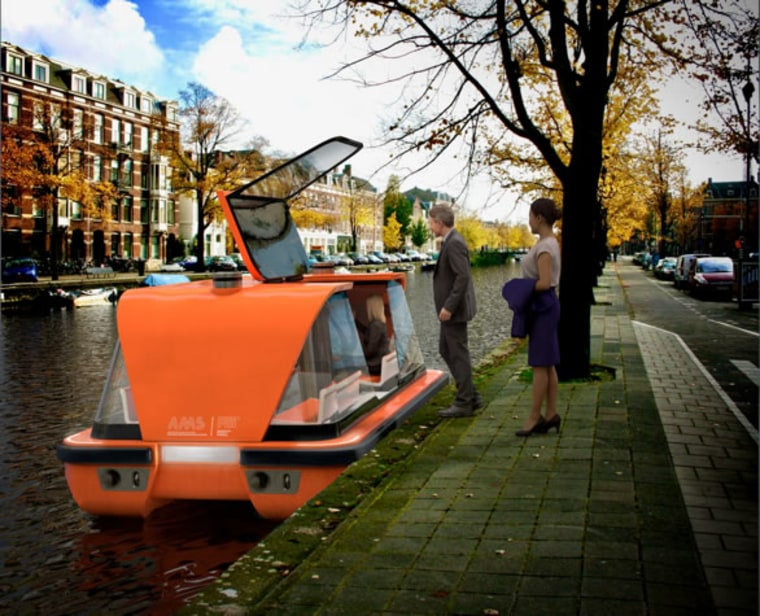 Image: A rendering of roboats in Amsterdam