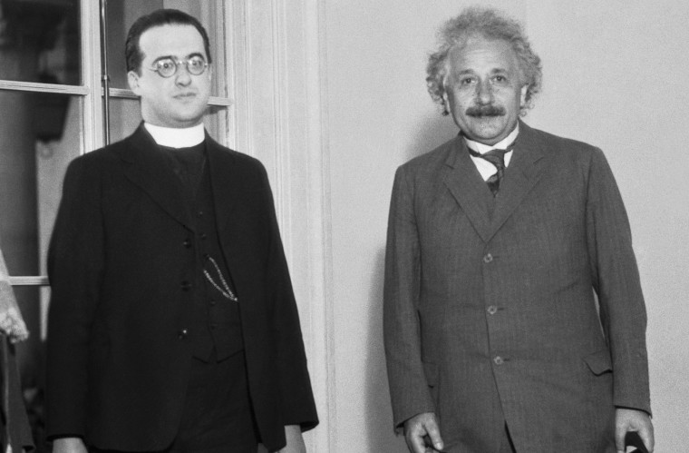Image: Albert Einstein and Georges LeMaitre