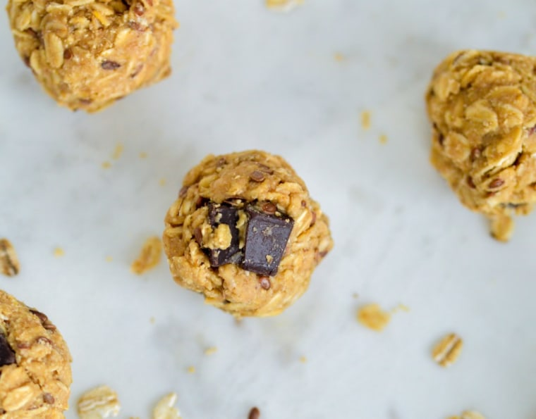 These Tahini Maple Oat Bites make the perfect well-balanced, grab-and-go snack to fuel your workout.