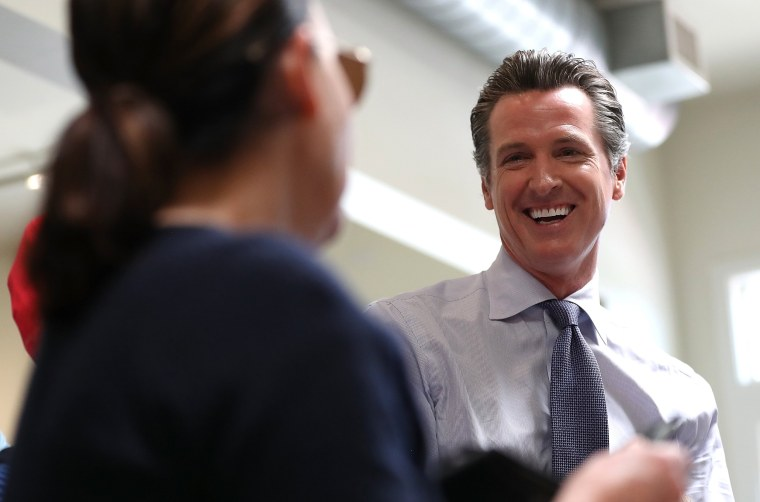 Image: California Gubernatorial Candidate Gavin Newsom Votes In State's Primary