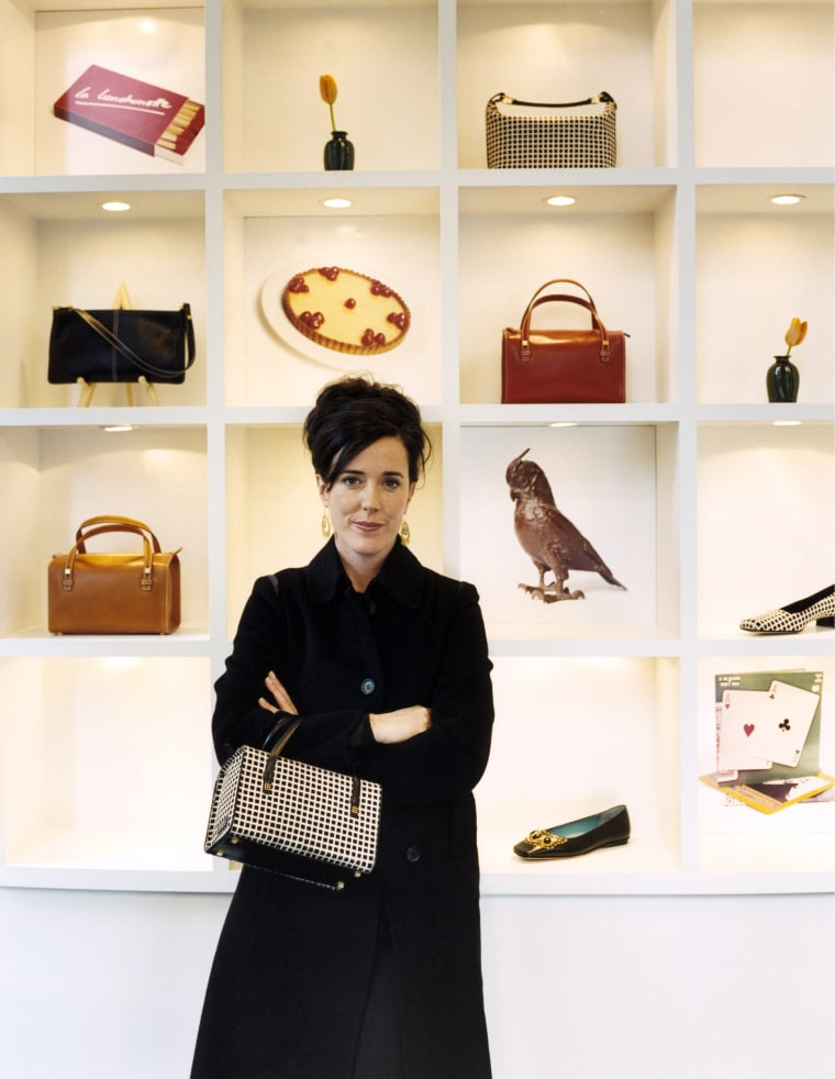 Image: American accessories designer Kate Spade.