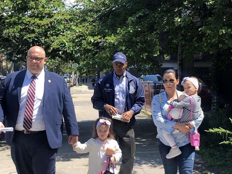 Image: The family of Pablo Villavicencio attends a presser about his arrest, June 6, 2018.