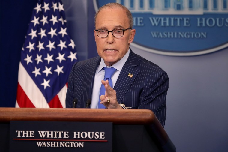 Image: National Economic Council Director Larry Kudlow Holds Press Briefing On G7 Summit In Canada