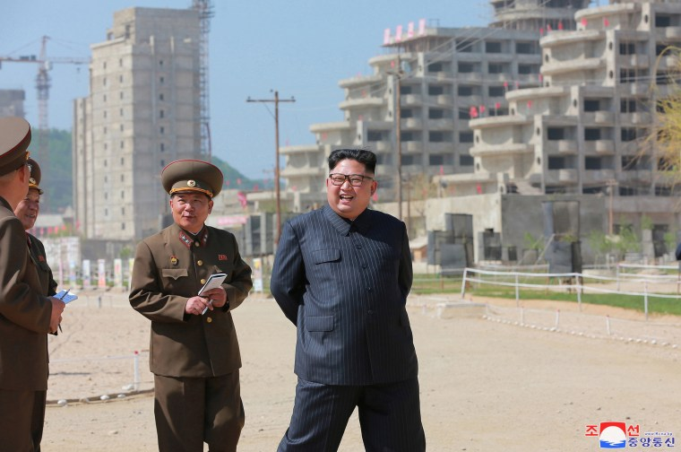 Image: Kim Jong Un Inspects Construction Site of Wonsan-Kalma Coastal