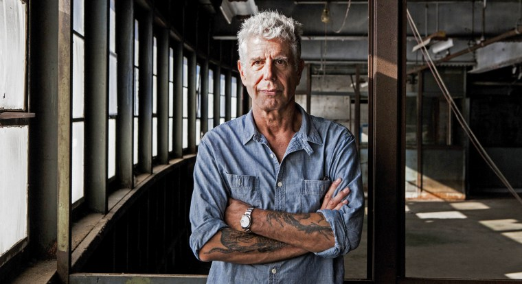 Image: Anthony Bourdain on Pier 57, where he is planning to open Bourdain Market, in New York.