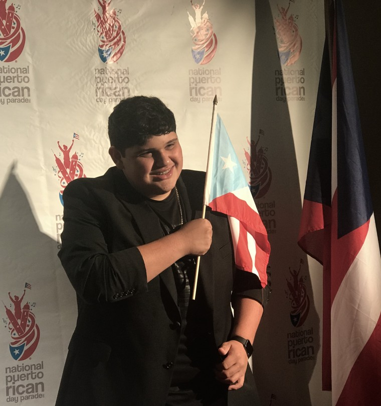 Christopher Rivera, 16, at the National Puerto Rican Day Parade gala.