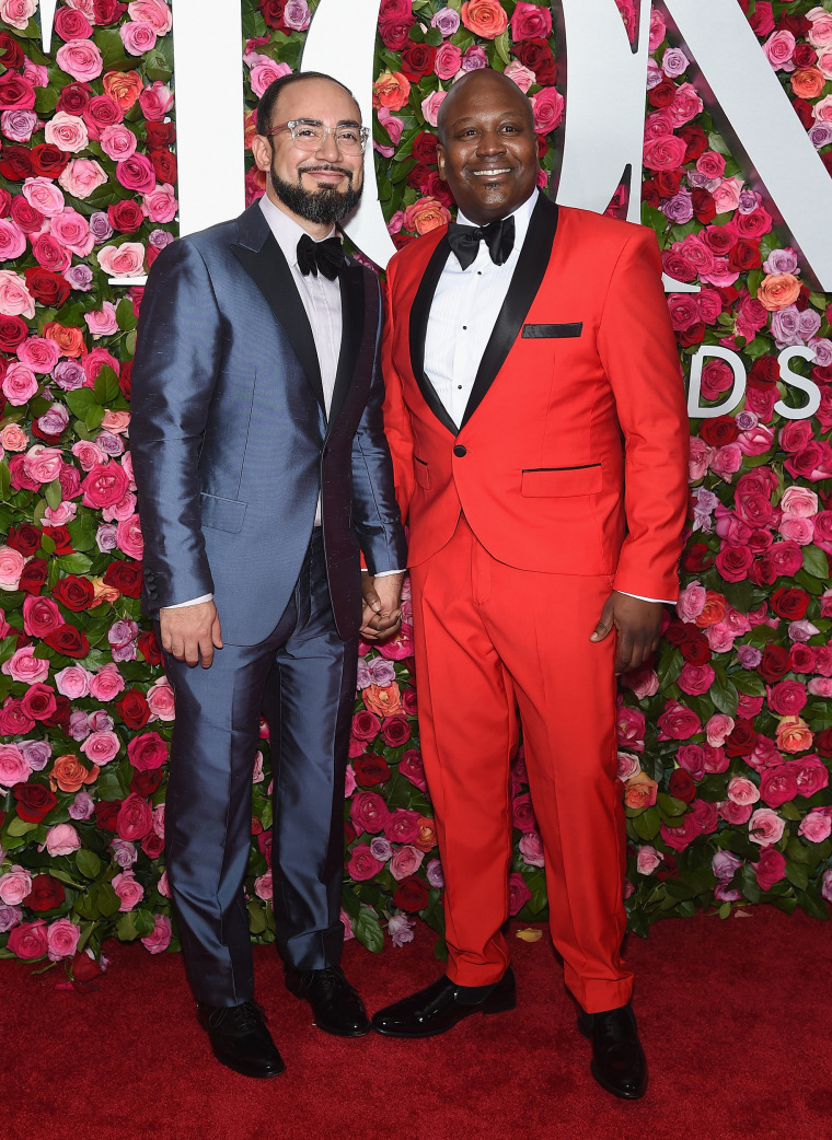 Pablo Salinas and Tituss Burgess attend the 72nd Annual Tony Awards