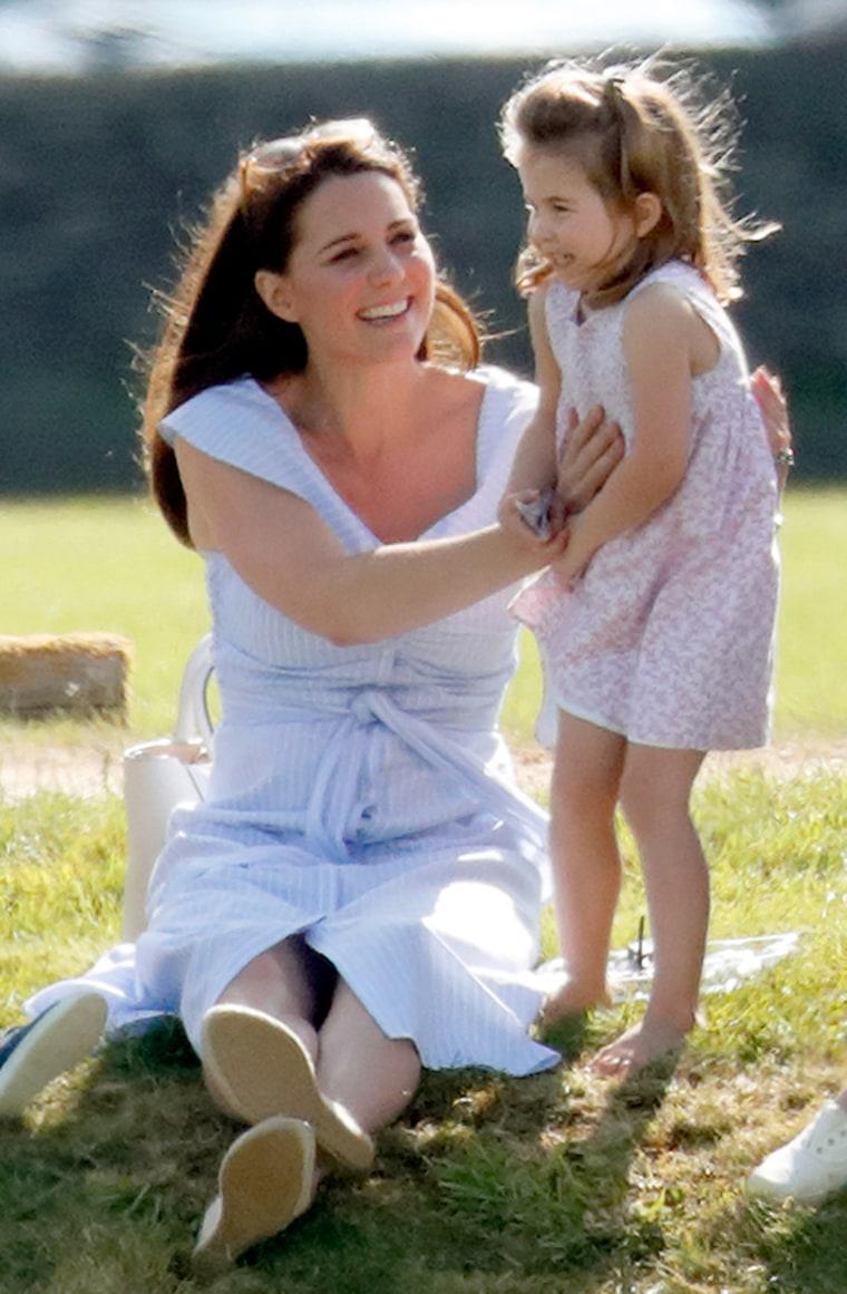Former Kate Middleton wears blue Zara dress at polo match