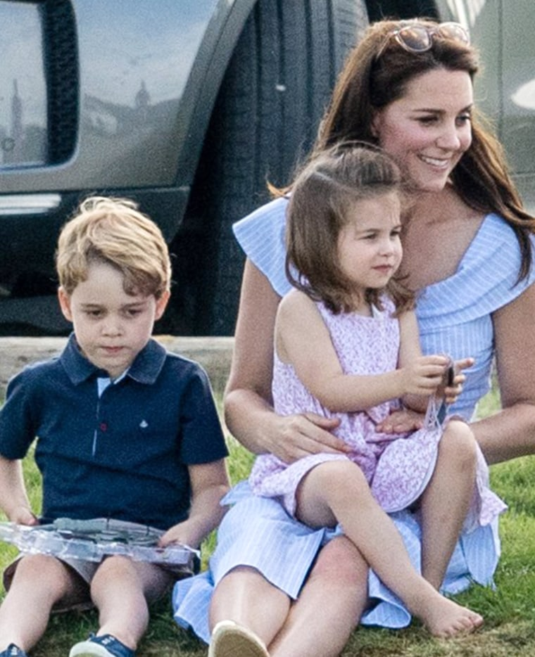 Former Kate Middleton with kids