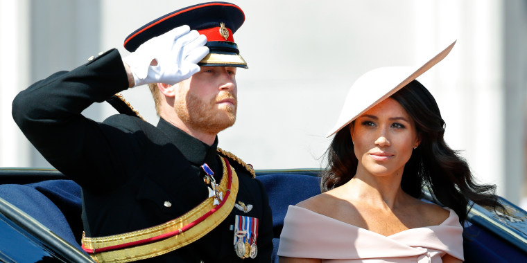 Duchess Meghan looked pretty in pink during one of her first official royal functions.
