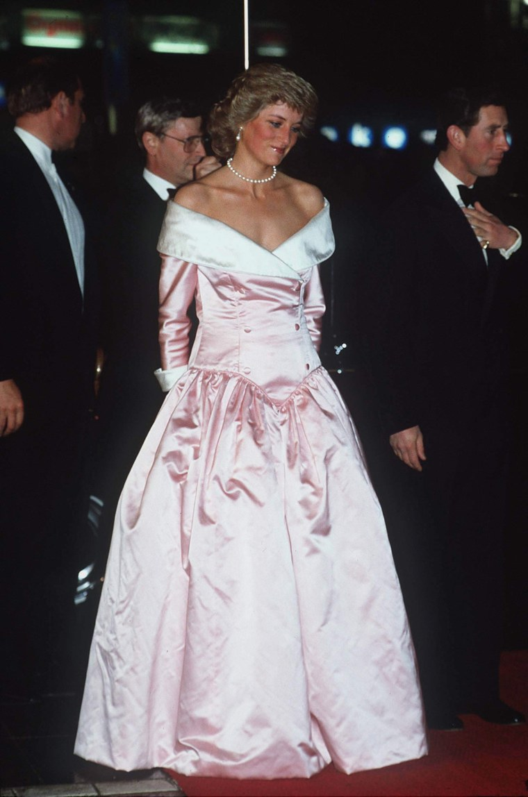 Princess Diana wore the striking gown to a gala in 1987.