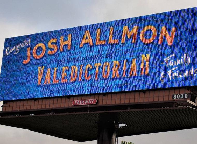 Validictorian, East Wake HS, Josh Allmon