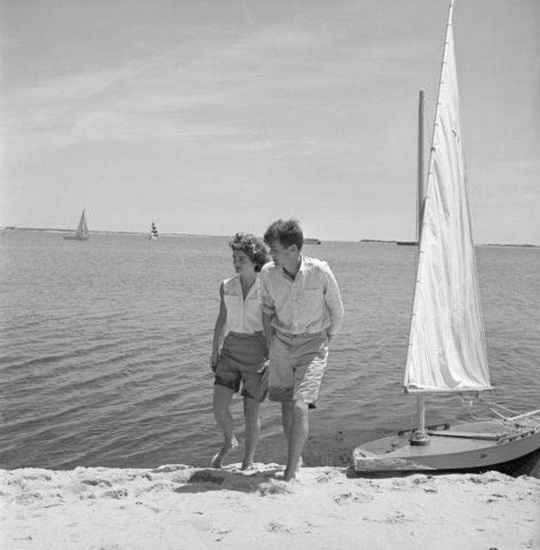 Jackie Kennedy in Bermuda shorts