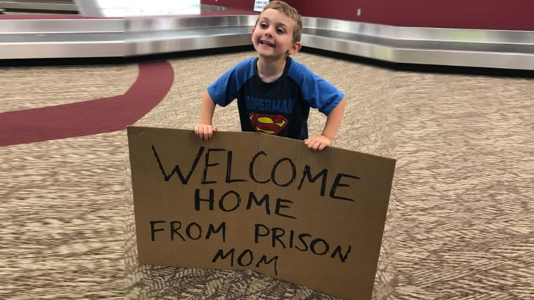son plays prank on mom at airport