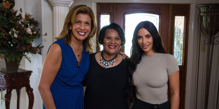 Hoda Kotb, Alice Johnson, and Kim Kardashian