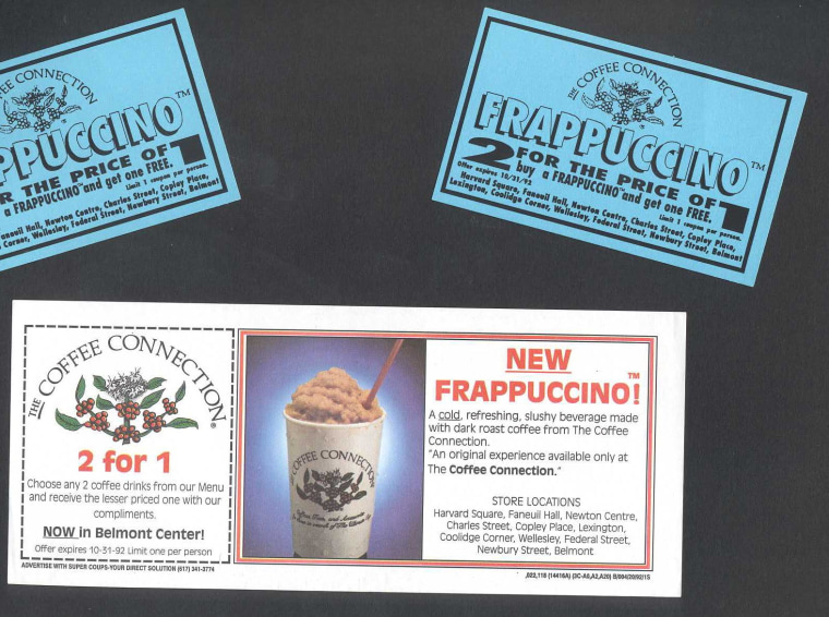 Coffee Connection launched the Frappuccino in the summer of 1992 in Boston.