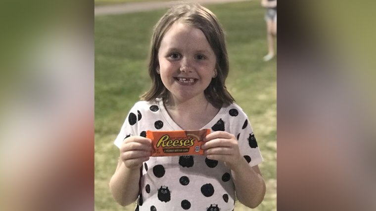 Reese Eve Cupp's parents named her after the candy... and they say it suits her sweet personality.