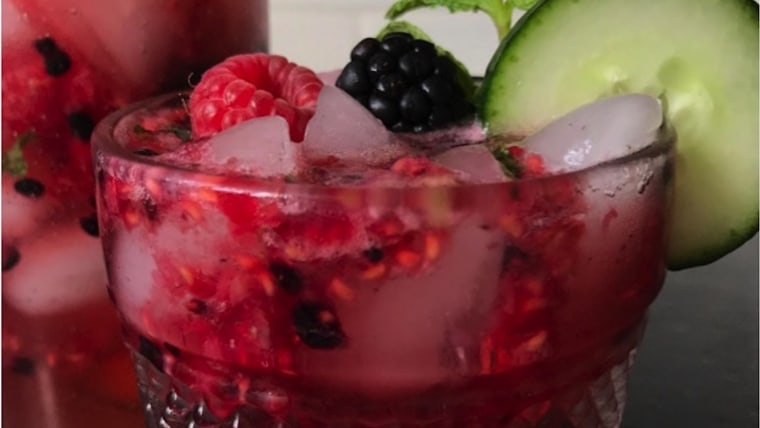 Berry, Mint and Cucumber Cooler