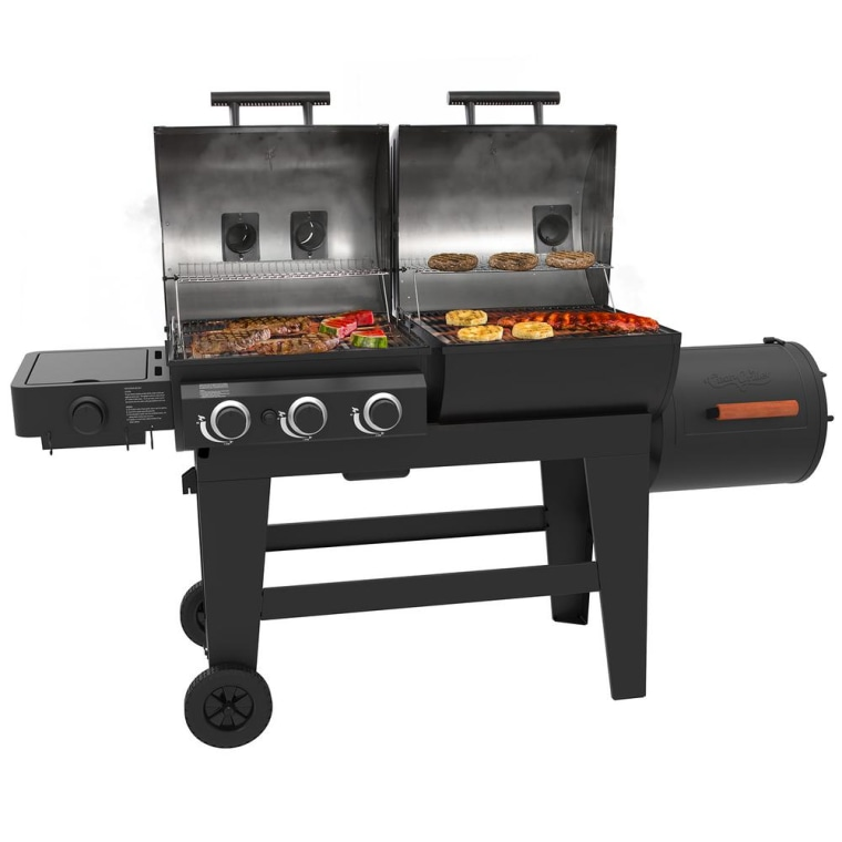 Triple Play Gas and Charcoal Grill