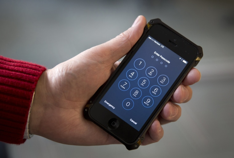 Image: Password-protected iPhone