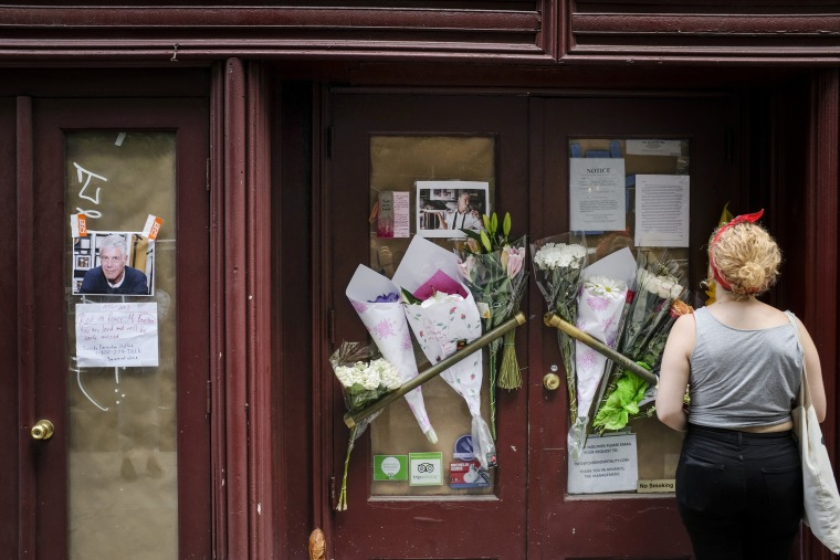 Image: Mourners Leave Flowers At Anthony Bourdain's Former Restaurant, After His Suicide Death