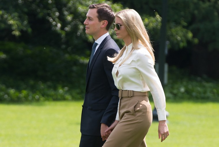 Image: Jared Kushner and Ivanka Trump walk to Marine One