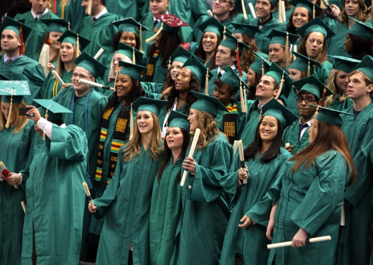 Graduating Michigan State University students in 2012.