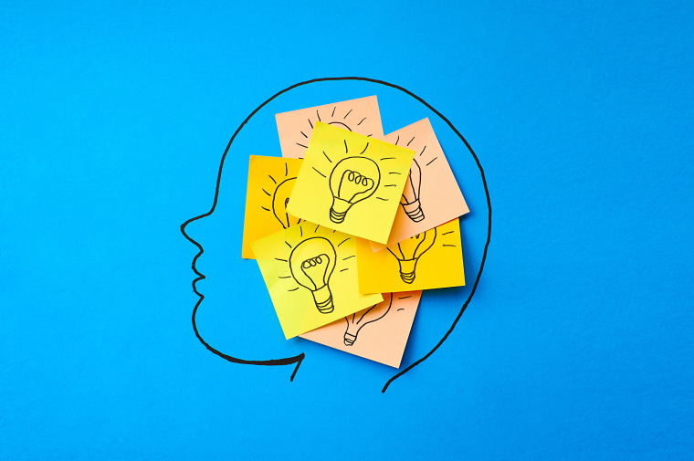 Image: Sticky notes with light bulbs