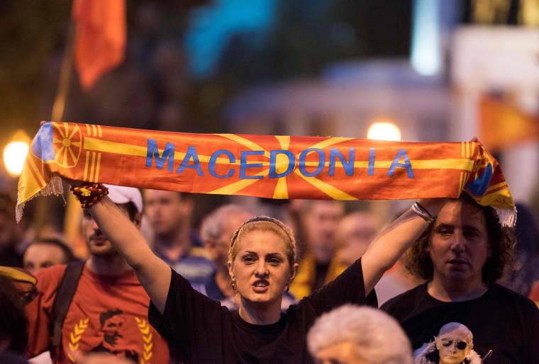 Image: Macedonia Name Change Protests