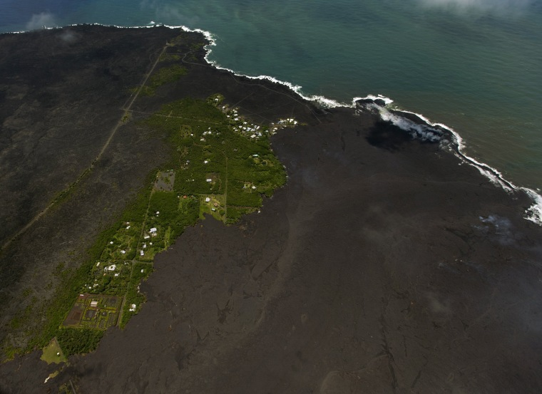 Image: Fresh lava covers most of the Kapoho area from the the Kilauea volcano eruption