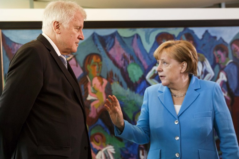 Image: Merkel and Seehofer